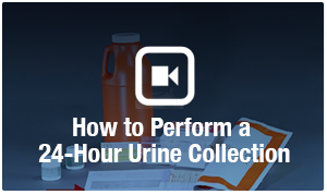 how to perform a 24-hour urine collection video link
